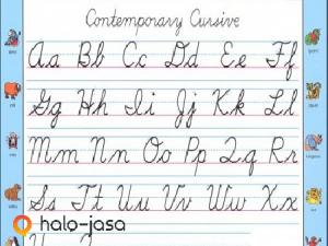 manfaat anak belajar menulis huruf sambung